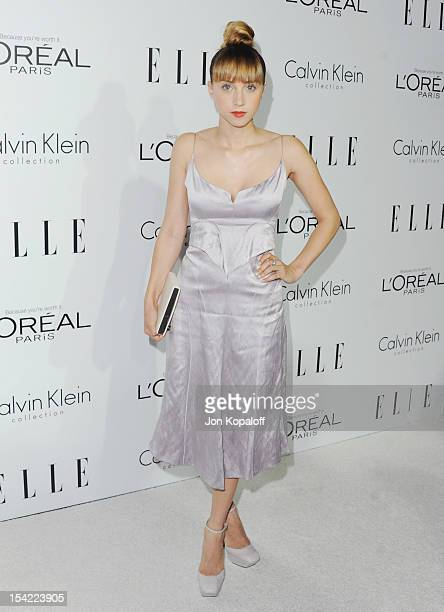 Actress Zoe Kazan arrives at the 19th Annual ELLE Women In Hollywood Celebration at the Four Seasons Hotel Los Angeles at Beverly Hills on October 15...