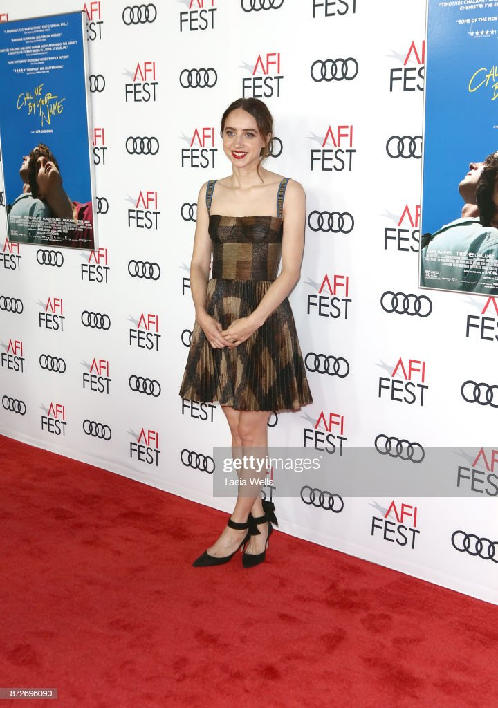 Actress Zoe Kazan at the screening of 'Call Me By Your Name' at AFI FEST 2017 presented by Audi at TCL Chinese Theatre on November 10, 2017 in Hollywood, California.