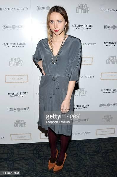 Actress Zoe Kazan attends The Cinema Society Nancy Gonzalez screening of 'Meek's Cutoff' at Landmark Sunshine Cinema on March 28 2011 in New York City