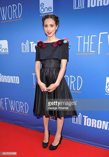 Actress Zoe Kazan attends 'The F Word' Toronto premiere at Scotiabank Theatre on July 21 2014 in Toronto Canada