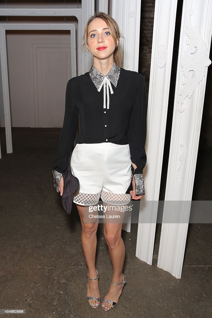 Actress Zoe Kazan attends the HONOR fashion show at Art Beam on September 4 2014 in New York City