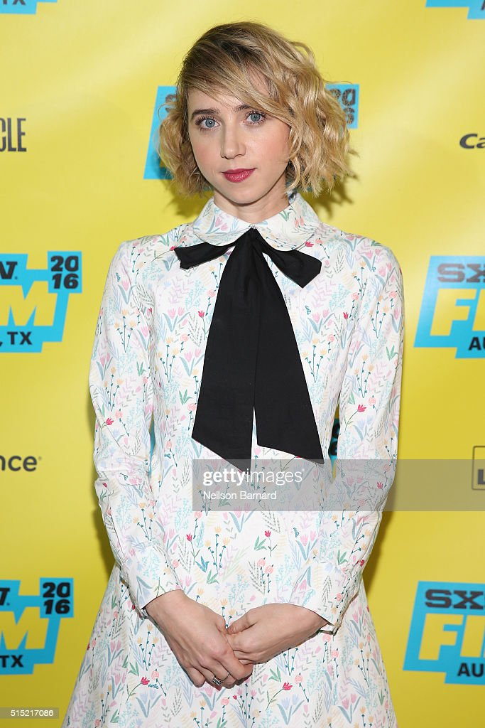 Actress Zoe Kazan attends the 'My Blind Brother' premiere during the 2016 SXSW Music Film Interactive Festival at Topfer Theatre at ZACH on March 12...