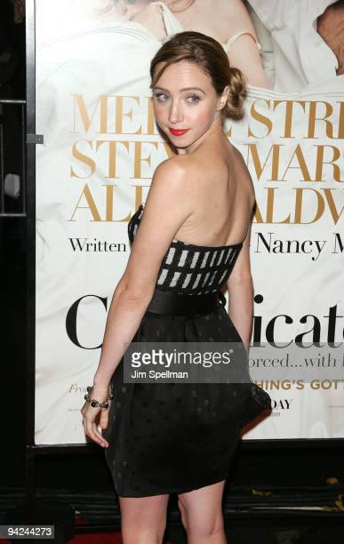 Actress Zoe Kazan attends the New York premiere of 'It's Complicated' at The Paris Theatre on December 9 2009 in New York City
