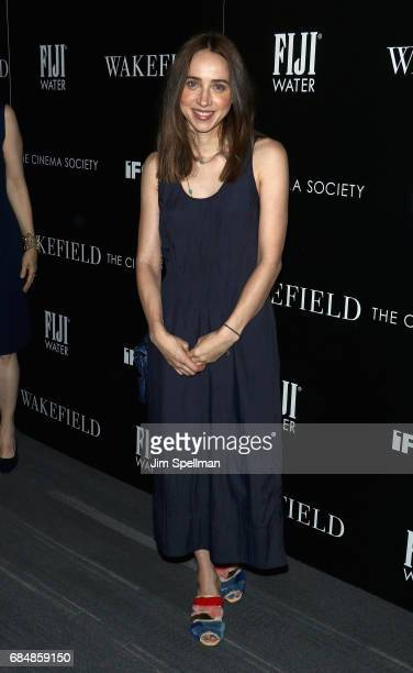 Actress Zoe Kazan attends the screening of IFC Films' 'Wakefield' hosted by The Cinema Society at Landmark Sunshine Cinema on May 18 2017 in New York...
