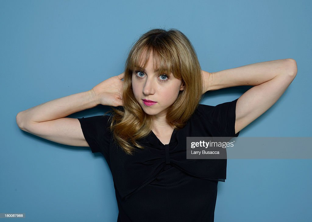 Actress Zoe Kazan of 'F Word' poses at the Guess Portrait Studio during 2013 Toronto International Film Festival on September 8 2013 in Toronto Canada