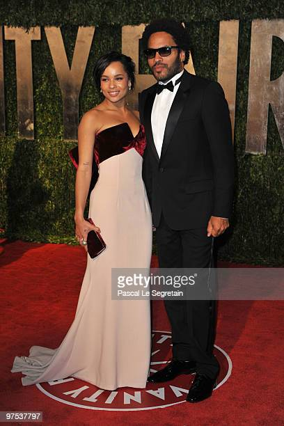 Actress Zoe Kravitz and Musician/Father Lenny Kravitz arrive at the 2010 Vanity Fair Oscar Party hosted by Graydon Carter held at Sunset Tower on...