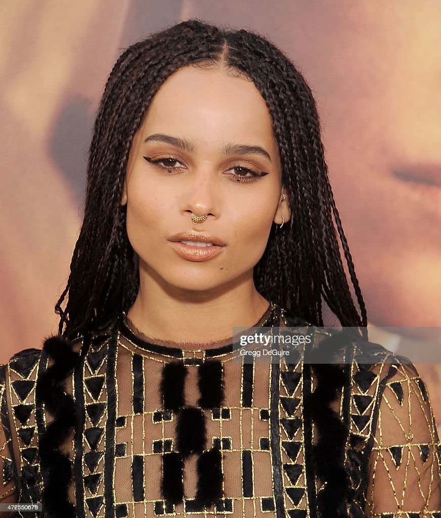 Actress Zoe Kravitz arrives at the Los Angeles premiere of 'Mad Max Fury Road' at TCL Chinese Theatre IMAX on May 7 2015 in Hollywood California