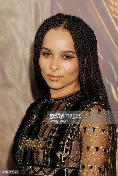 Actress Zoe Kravitz arrives at the 'Mad Max Fury Road' Los Angeles Premiere at TCL Chinese Theatre IMAX on May 7 2015 in Hollywood California