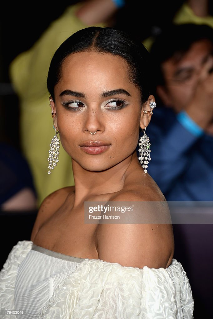 Actress Zoe Kravitz arrives at the premiere of Summit Entertainment's 'Divergent' at the Regency Bruin Theatre on March 18, 2014 in Los Angeles, California.