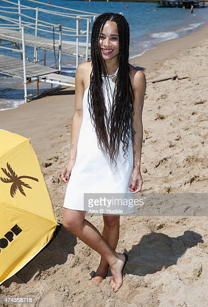 Actress Zoe Kravitz attends a photocall for 'Dope' during the 68th annual Cannes Film Festival on May 22 2015 in Cannes France