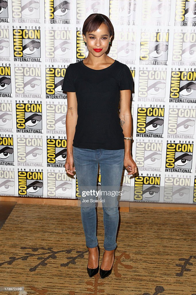 Actress Zoe Kravitz attends 'Divergent' Comic-Con Press Line at San Diego Convention Center on July 18, 2013 in San Diego, California.