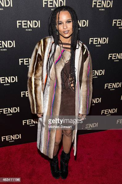 Actress Zoe Kravitz attends Fendi New York Flagship Boutique Inauguration Party during MercedesBenz Fashion Week at Fendi Madison Avenue on February...