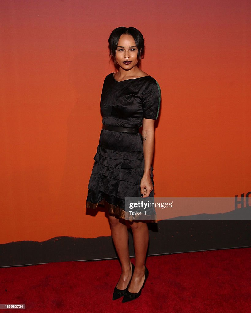 Actress <a gi-track='captionPersonalityLinkClicked' href=/galleries/search?phrase=Zoe+Kravitz&family=editorial&specificpeople=680250 ng-click='$event.stopPropagation()'>Zoe Kravitz</a> attends the 2013 Whitney Gala and Studio party at Skylight at Moynihan Station on October 23, 2013 in New York City.