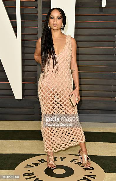 Actress Zoe Kravitz attends the 2015 Vanity Fair Oscar Party hosted by Graydon Carter at Wallis Annenberg Center for the Performing Arts on February...
