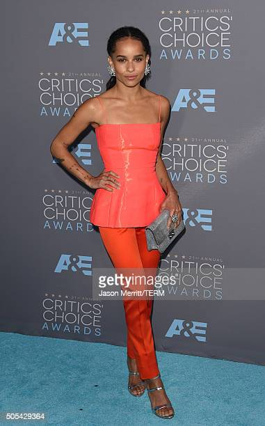 Actress Zoe Kravitz attends the 21st Annual Critics' Choice Awards at Barker Hangar on January 17 2016 in Santa Monica California