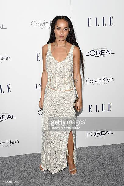 Actress Zoe Kravitz attends the 22nd Annual ELLE Women in Hollywood Awards at Four Seasons Hotel Los Angeles at Beverly Hills on October 19 2015 in...