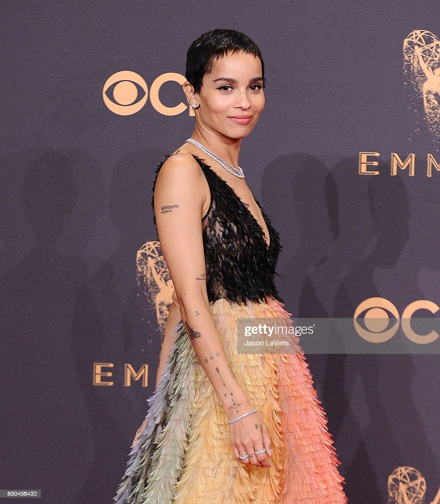 Actress Zoe Kravitz attends the 69th annual Primetime Emmy Awards at Microsoft Theater on September 17, 2017 in Los Angeles, California.