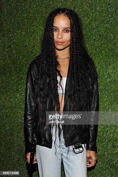 Actress Zoe Kravitz attends the Calvin Klein Jeans hosted music event in Los Angeles to celebrate the fall 2015 ad campaign at The Lyric Theatre on...
