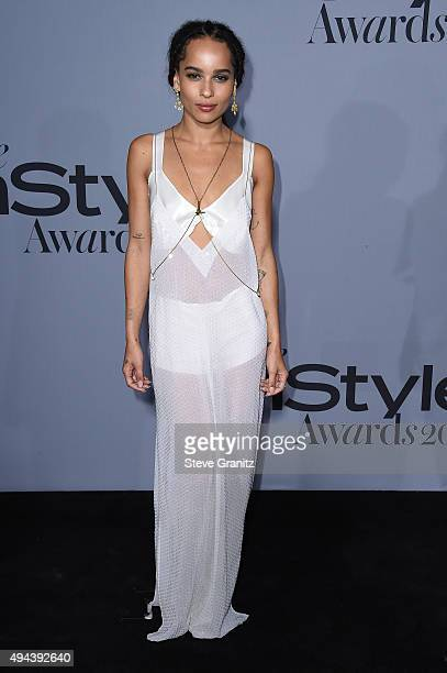 Actress Zoe Kravitz attends the InStyle Awards at Getty Center on October 26 2015 in Los Angeles California
