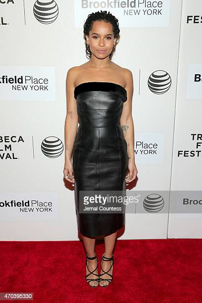 Actress Zoe Kravitz attends the premiere of 'Good Kill' during the 2015 Tribeca Film Festival at BMCC Tribeca PAC on April 19 2015 in New York City