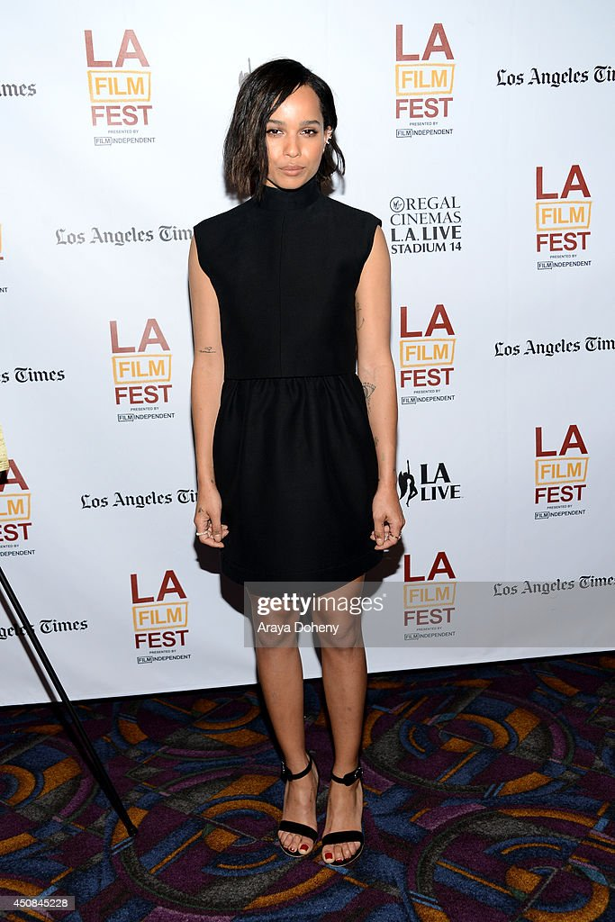 Actress Zoe Kravitz attends the premiere of 'The Road Within' during the 2014 Los Angeles Film Festival at Regal Cinemas L.A. Live on June 18, 2014 in Los Angeles, California.