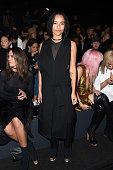 Actress Zoe Kravitz attends the Vera Wang Collection Fall 2016 fashion show during New York Fashion Week The Shows at The Arc Skylight at Moynihan...