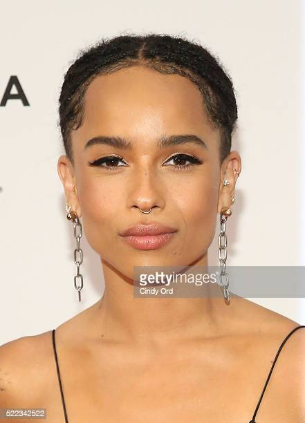 Actress Zoe Kravitz attends the 'Vincent N Roxxy' Premiere during the 2016 Tribeca Film Festival at Chelsea Bow Tie Cinemas on April 18 2016 in New...