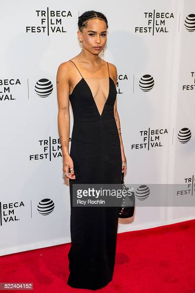 Actress Zoe Kravitz attends 'Vincent N Roxxy' Premiere during the 2016 Tribeca Film Festival at Chelsea Bow Tie Cinemas on April 18 2016 in New York...