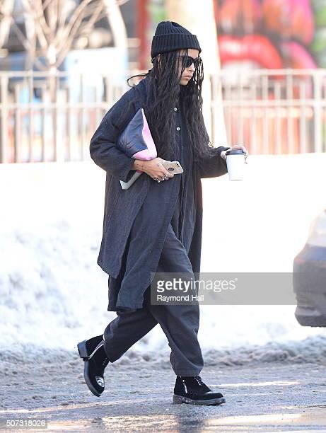 Actress Zoe Kravitz is seen walking in Soho on January 28 2016 in New York City