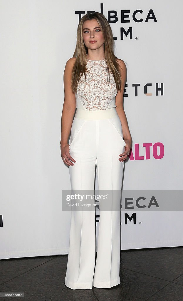 Actress Zoe Levin attends the premiere of Tribeca Film's 'Palo Alto' at the Directors Guild of America on May 5, 2014 in Los Angeles, California.