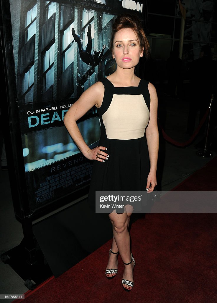 Actress Zoe Lister Jones arrives to the premiere of FilmDistricts's 'Dead Man Down' at ArcLight Hollywood on February 26, 2013 in Hollywood, California.