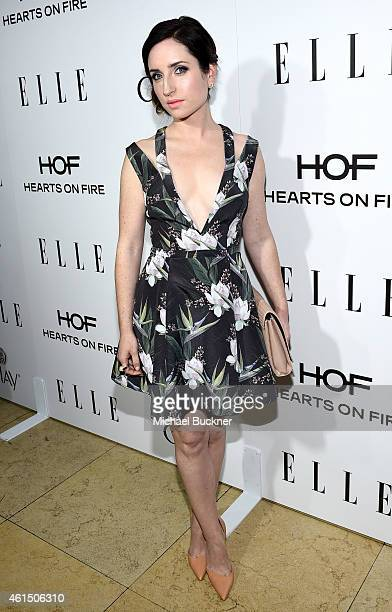 Actress Zoe Lister Jones attends ELLE's Annual Women in Television Celebration on January 13 2015 at Sunset Tower in West Hollywood California...