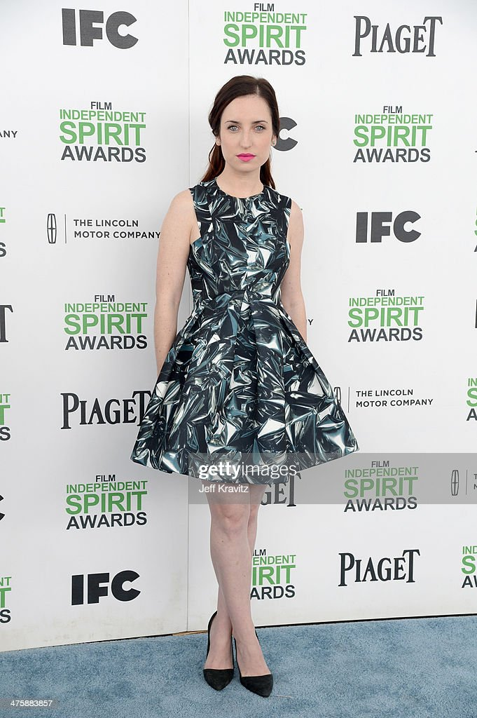 Actress Zoe Lister Jones attends the 2014 Film Independent Spirit Awards on March 1, 2014 in Santa Monica, California.