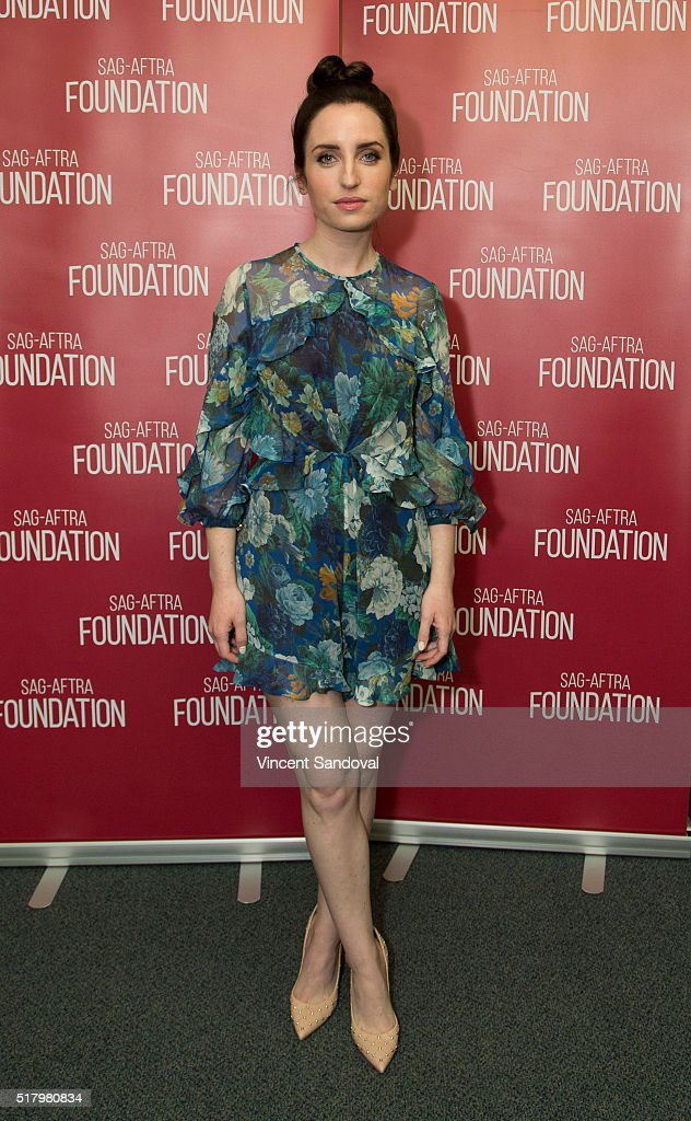 Actress <a gi-track='captionPersonalityLinkClicked' href=/galleries/search?phrase=Zoe+Lister-Jones&family=editorial&specificpeople=655703 ng-click='$event.stopPropagation()'>Zoe Lister-Jones</a> attends SAG-AFTRA Foundation Conversations for 'Life In Pieces' at SAG-AFTRA Foundation on March 28, 2016 in Los Angeles, California.