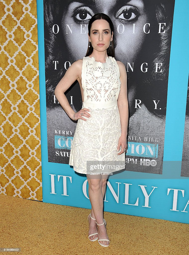 Actress <a gi-track='captionPersonalityLinkClicked' href=/galleries/search?phrase=Zoe+Lister-Jones&family=editorial&specificpeople=655703 ng-click='$event.stopPropagation()'>Zoe Lister-Jones</a> attends the premiere of 'Confirmation' at Paramount Theater on the Paramount Studios lot on March 31, 2016 in Hollywood, California.