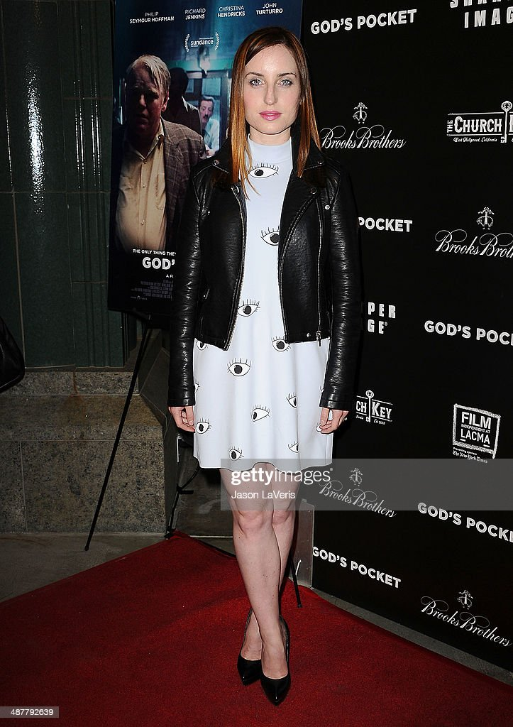 Actress Zoe Lister-Jones attends the premiere of 'God's Pocket' at LACMA on May 1, 2014 in Los Angeles, California.