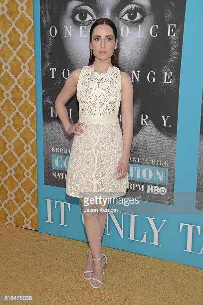 Actress Zoe ListerJones attends the premiere of HBO Films' 'Confirmation' at Paramount Theater on the Paramount Studios lot on March 31 2016 in...