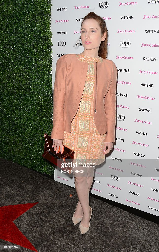 Actress Zoe Lister-Jones attends the Vanity Fair And Juicy Couture Celebration Of The 2013 Vanities Calendar party at Chateau Marmont February 18, 2013 in West Hollywood, California. AFP PHOTO Robyn BECK