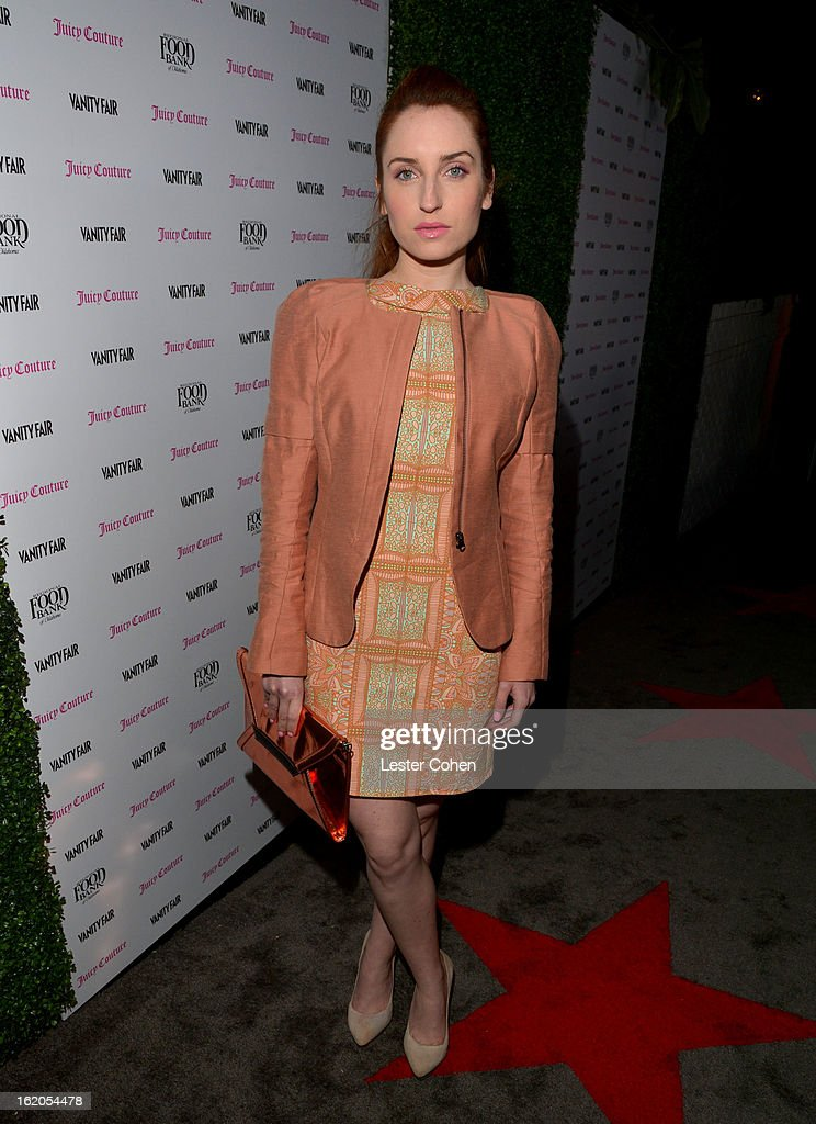 "Actress Zoe Lister-Jones attends Vanity Fair and Juicy Couture's Celebration of the 2013 ""Vanities"" Calendar hosted by Vanity Fair West Coast Editor Krista Smith and actress Olivia Munn in support of the Regional Food Bank of Oklahoma, a member of Feeding America, at the Chateau Marmont on February 18, 2013 in Los Angeles, California."