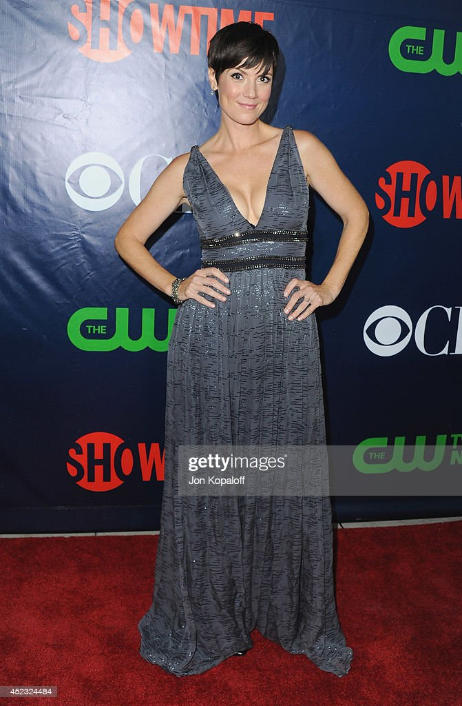 Actress <a gi-track='captionPersonalityLinkClicked' href=/galleries/search?phrase=Zoe+McLellan&family=editorial&specificpeople=2664343 ng-click='$event.stopPropagation()'>Zoe McLellan</a> arrives at the CBS, The CW, Showtime & CBS Television Distribution 2014 Television Critics Association Summer Press Tour at Pacific Design Center on July 17, 2014 in West Hollywood, California.