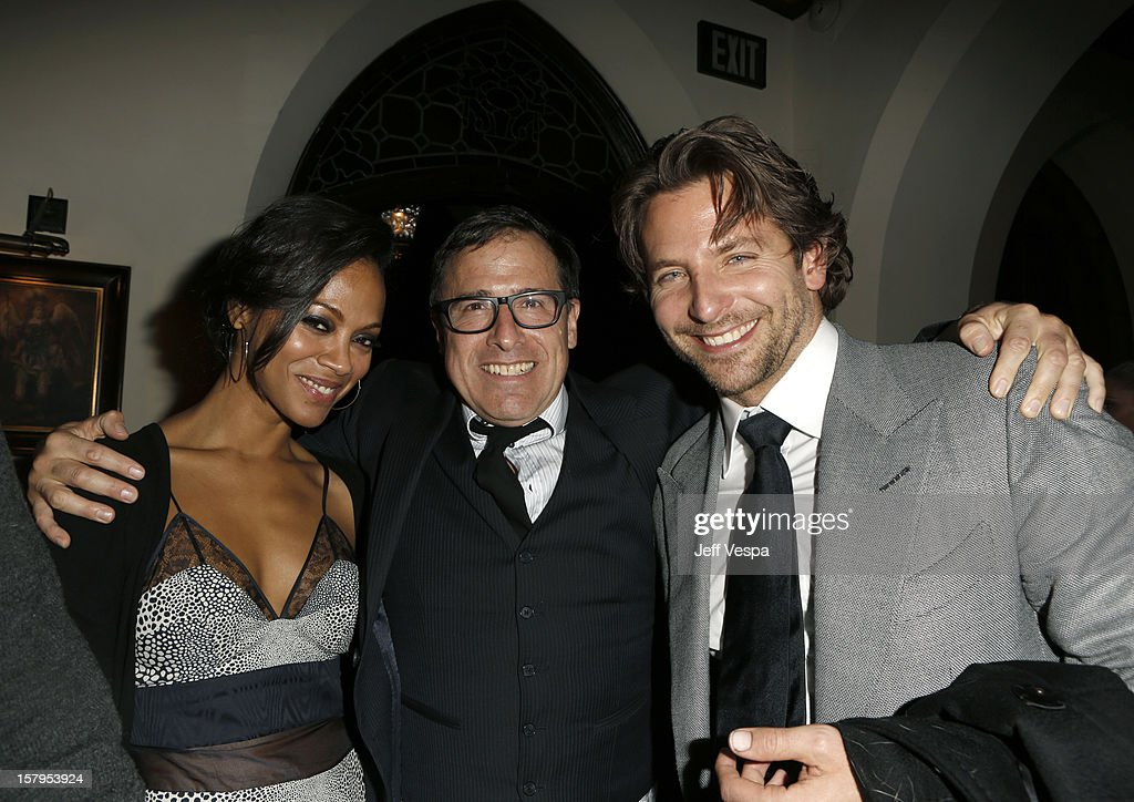 Actress Zoe Saldan, Director Davi O. Russell and Actor Bradley Cooper attend the SILVER LININGS PLAYBOOK Event Hosted By Lexus And Purity Vodka at Chateau Marmont on December 7, 2012 in Los Angeles, California.