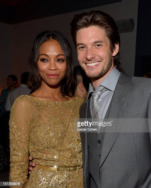 Actress Zoe Saldana and actor Ben Barnes attend the 'The Words' Los Angeles premiere after party at Lexington Social House on September 4 2012 in...