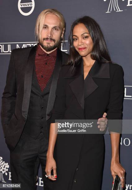 Actress Zoe Saldana and Marco Perego attend the 2017 Baby2Baby Gala at 3LABS on November 11 2017 in Culver City California