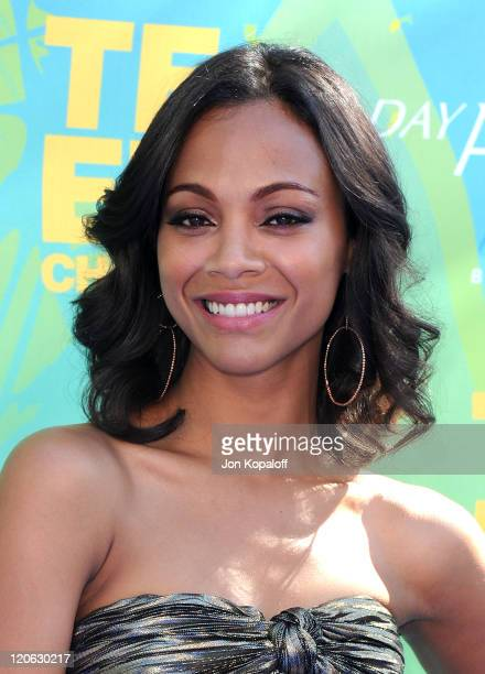 Actress Zoe Saldana arrives at the 2011 Teen Choice Awards held at Gibson Amphitheatre on August 7 2011 in Universal City California