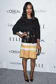 Actress Zoe Saldana arrives at the 22nd Annual ELLE Women In Hollywood Awards at Four Seasons Hotel Los Angeles at Beverly Hills on October 19 2015...