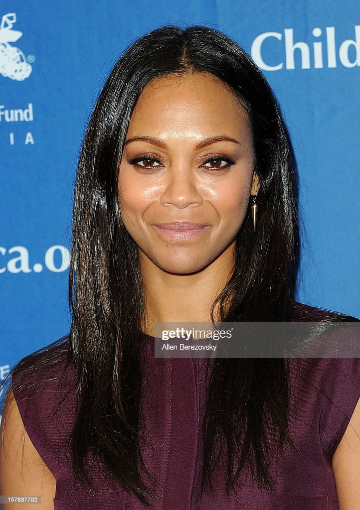 Actress Zoe Saldana arrives at the Children's Defense Fund of California 22nd Annual Beat The Odds Awards at Beverly Hills Hotel on December 6, 2012 in Beverly Hills, California.