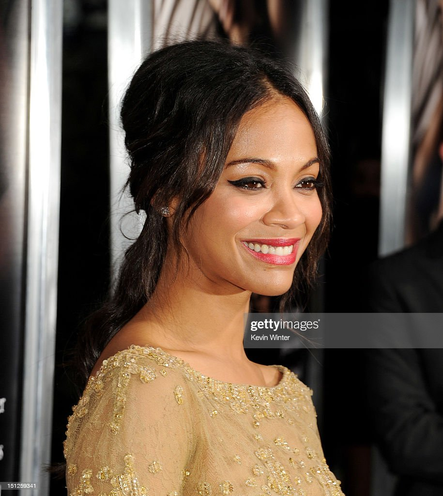 Actress Zoe Saldana arrives at the premiere of CBS Films' 'The Words' at the Arclight Theatre on September 4, 2012 in Los Angeles, California.