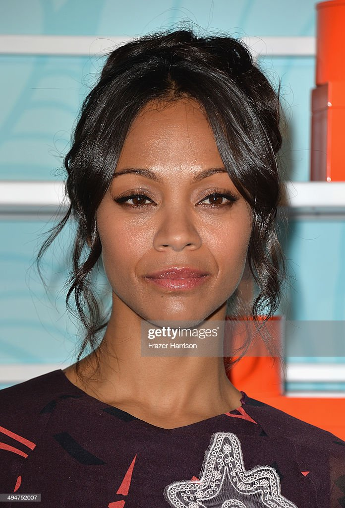 Actress Zoe Saldana arrives at the Step Up 11th Annual Inspiration Awards at The Beverly Hilton Hotel on May 30, 2014 in Beverly Hills, California.