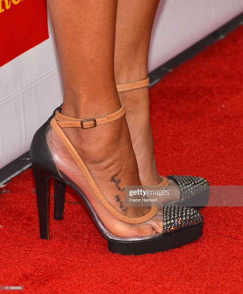 Actress Zoe Saldana (detail) arrives at 'Trevor Live' honoring Katy Perry and Audi of America for The Trevor Project held at The Hollywood Palladium on December 2, 2012 in Los Angeles, California.