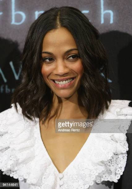 Actress Zoe Saldana attends a photocall to promote the film 'Avatar' at Hotel de Rome on December 8 2009 in Berlin Germany